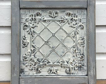 Framed Metal Tile - single
