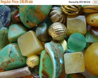 ONSALE Vintage By the Sea Series Glass Mixed Beads 100 Pieces Plus Lot 23