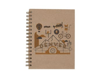 Denver Journal - Notebook | Lined Pages | Spiral Bound | Letterpress | Hard Cover