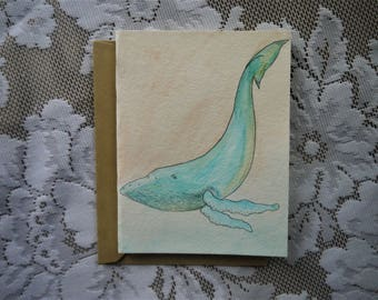 Humpback Whale Card 14.5 x 11cm
