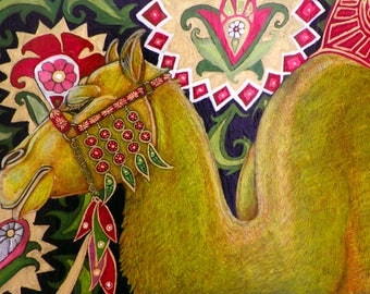 "Original ""Caravan of Dreams"" Camel Painting by Lynnette Shelley"