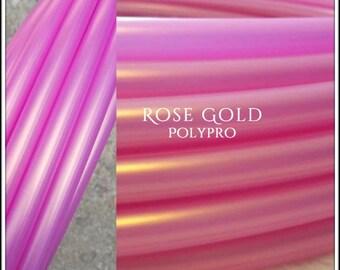 "NeW!  'ROSE GOLD' Color-Shifting Polypro!  3/4"" -OR- 5/8"" Hoop Or Minis Set! Free Sanding Option."