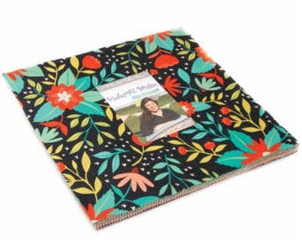 SUMMER SALE - Midnight Garden - Layer Cake - by One Canoe Two for Moda Fabrics