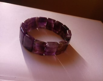 Natural Amethyst Bracelet for a wrist of 7&1/2 inches