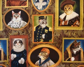 CAT FABRIC Elizakitten Era from Alexander Henry Ultra Rare - 1/2 yard - #C19