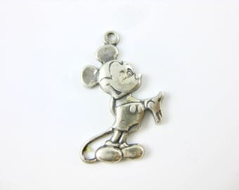 Vintage Mickey Mouse Walt Disney Sterling Silver Charm.