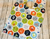 Science Themed Big Kid Styled Bib | Snap up Pocket | Geekily Chic Periodic Table