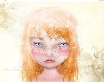 50% Off SALE Danielle Medium A4 Sized 8.5x11 OR 8x10 Premium Giclee  Fine Art Print