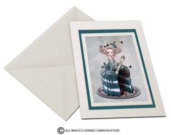 Marie Antoinette Greeting Card - Rococo Greeting Card - Bitter Sweet