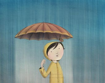8x10 Print -- April Rain