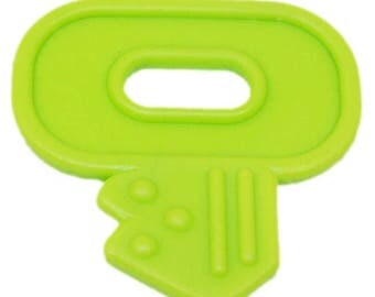 Key to teething to sew, lime green color