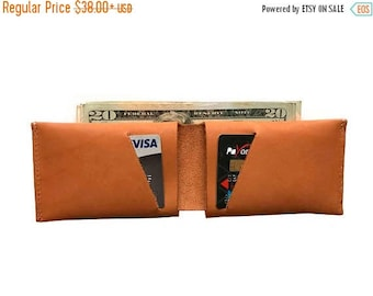 15% OFF Caramel Leather Slit Wallet Coin Money Purse For Men & Women - Accessories Collection