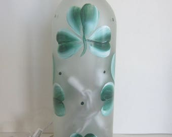 Shamrocks,,, Shamrocks,,,, Shamrocks.... on  a Frosted Lighted Bottle