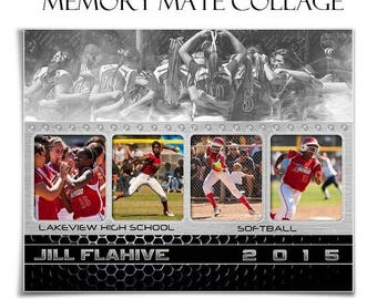 50% Off - SPORTS Memory Mate - GAME CHANGER - (2) 8x10 (hz & vt) Photoshop Templates for Photographers and Scrapbookers.