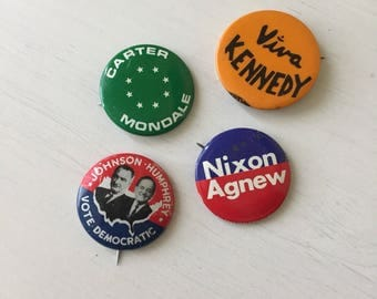 Various Election Campaign Pins 4pc