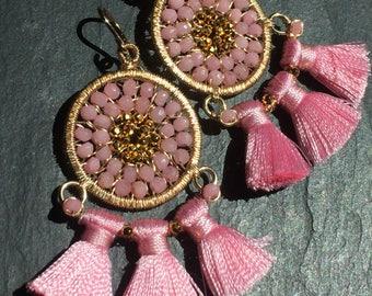 Carnival Earrings in Pink