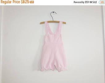 SALE // Vintage Pink Baby Romper