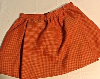 vintage camp moire-checked mini skirt