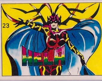 Rare 1980 Marvel Super Heroes Hela 23 Sticker