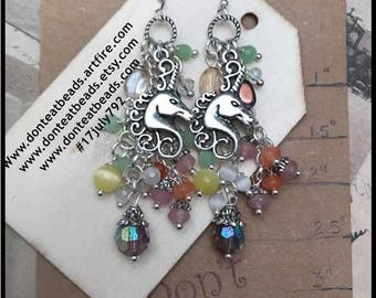 Rainbow unicorn earrings #17july792
