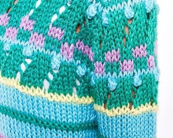40% OFF The Vintage Teal Candy Striped Sweater