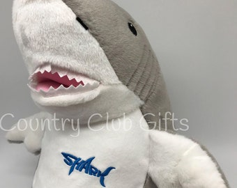 Personalized Stuffed Animal Shark | Personalized baby gift | birth stat Shark | stuffed Shark | Baby Shower Gift | Baby Boy Gift | Shark