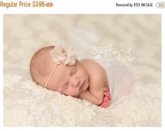sale Chiffon Flower Headband Taupe Baby Bow Headband Newborn Headband Infant Headband Girls Headband Toddler Headband Photography Prop Hair