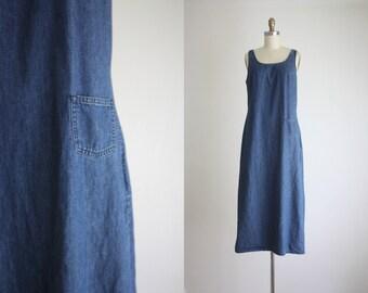 denim tank maxi dress