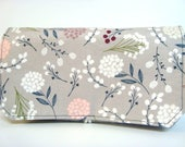 Coupon Organizer Cash Budget Organizer Holder- Attaches to your Shopping Cart  - Berry Floral