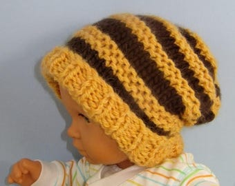 50% OFF SALE Instant Digital File pdf download knitting pattern only- Baby Superfast Stripe Slouch  pdf download knitting pattern