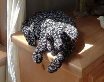 A Black Calico Velvet Cat