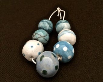 Large Blue Clay Bead Mix by Gaea
