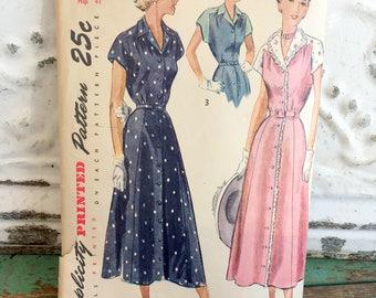 1940s Simplicity one piece Dress Sewing Pattern XL Bust 38 Hip 41