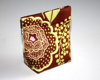 Coin Purse with flexframe opening in Lovely Amy Butler Fabric