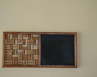 Oak Chalk and corkboard