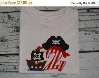 ON SALE PERSONALIZED Pirate Birthday Pirate Ship Shirt  Monogrammed