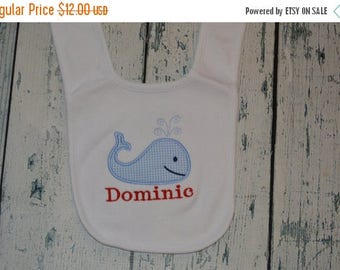 ON SALE Personalized Whale Infant Bib