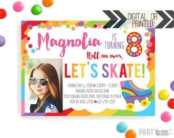 Roller Skating Invitation | Digital or Printed | Skating Birthday Invitation | Rollerskating Invitation | Skate Invite | Photo Invitation