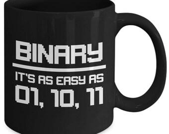 Binary It's As Easy As 1, 2, 3 Computer Programming Coffee Mug