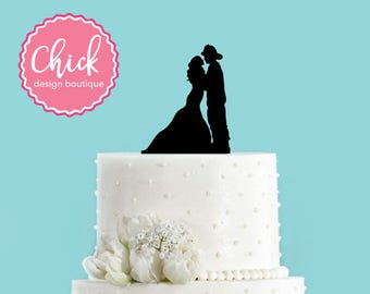 Firefighter Couple Acrylic Wedding Cake Topper