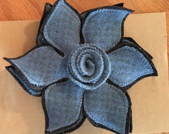 Wool Flowers ( pin)