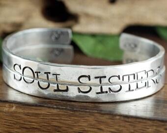 Soul Sisters Bracelets, Best Friends Jewelry, Sisters Jewelry, Best Friens Gift, BFF Jewelry, Soul Sister Gift, Soul Sister Bracelet Set
