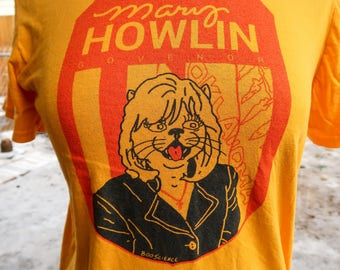 Gold Mary Howlin t-shirt by Boo Science
