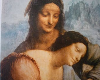 Da Vinci - Virgin and Child with Saint Anne - detail- Fine Art Print - Italian Renaissance Framable  for art lovers