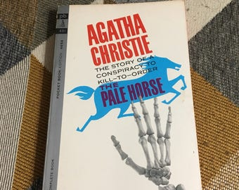 Vintage 1963 Agatha Christie  The Pale Horse Paperback Book