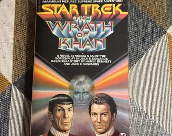 Vintage 1982 First Printing Star Trak The Wrath of Khan Paperback Book