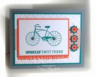 Stampin' Up Wheely Sweet Friend Card