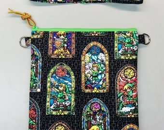 Legend of Zelda cross body, messenger bag, handmade
