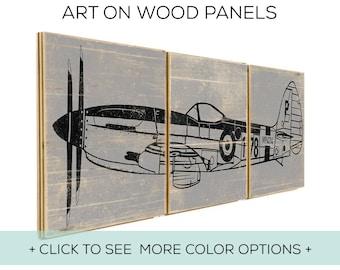 Vintage Airplane Decor - Toddler Room Ideas - Playroom Decor - Airplane Party - Teenage Boy Decor - Set of 3 Prints - Nursery Art Airplane
