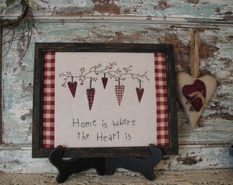 Country Primitive Stitchery, Home is Where the Heart Is